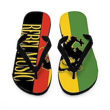Reggae Rebel music rasta Flip Flops