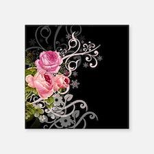 "Rose Elegance Square Sticker 3"" x 3"""