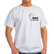 MSC Military Sealift Command Ash Grey T-Shirt