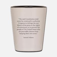 Massachusetts Convention of 1788 Shot Glass