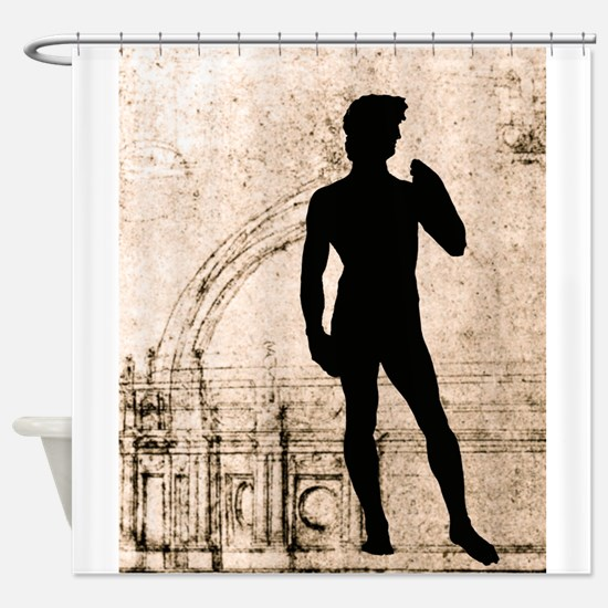 David Shadow Sketch Shower Curtain