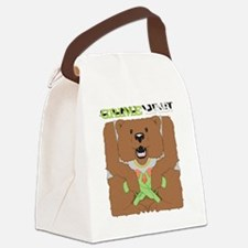 Grime Lab Bear Canvas Lunch Bag