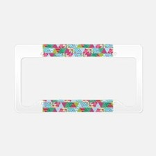 Cute Christmas patterns License Plate Holder