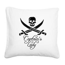 Captain's Lady Square Canvas Pillow