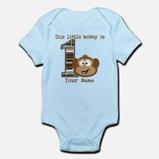 1st Birthday Monkey Personalized Infant Bodysuit