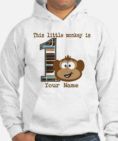 1st Birthday Monkey Personalized Jumper Hoody