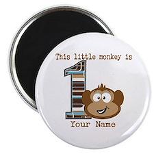 1st Birthday Monkey Personalized Magnet
