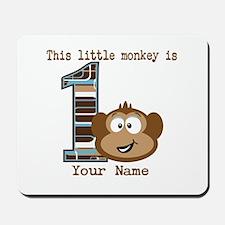 1st Birthday Monkey Personalized Mousepad