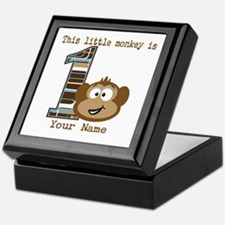 1st Birthday Monkey Personalized Keepsake Box