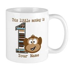 1st Birthday Monkey Personalized Mug