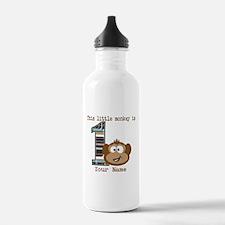 1st Birthday Monkey Personalized Water Bottle