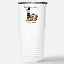 1st Birthday Monkey Personalized Travel Mug