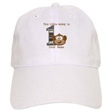 1st Birthday Monkey Personalized Baseball Baseball Cap