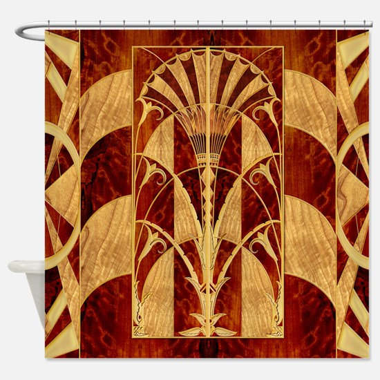 Harvest Moon's Art Deco Panel Shower Curtain