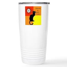 lamour de chat noir Travel Mug