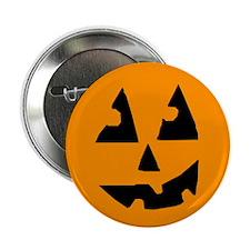 "Pumpkin Face Orange 2.25"" Button"