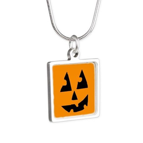 Pumpkin Face Orange Necklaces