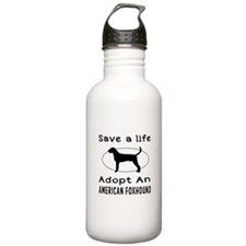 Adopt An American Foxhound Dog Water Bottle