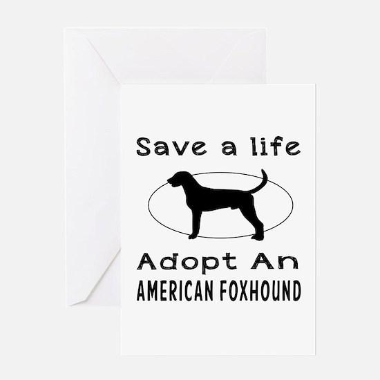 Adopt An American Foxhound Dog Greeting Card