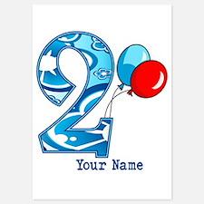 2nd Birthday Personalized Invitations