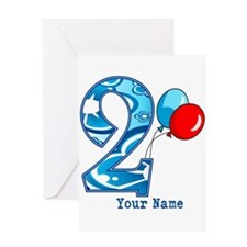 2nd Birthday Personalized Greeting Card