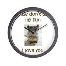 Chinchilla No Fur Wall Clock