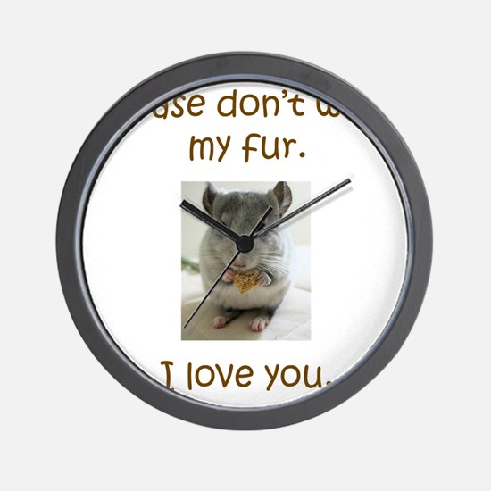 Chinchilla No Fur Wall Clock