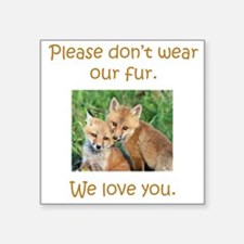 Fox No Fur Sticker