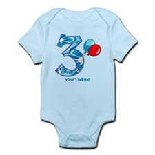3rd Birthday Balloons Personalized Infant Bodysuit