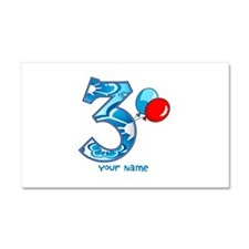 3rd Birthday Balloons Personalized Car Magnet 20 x