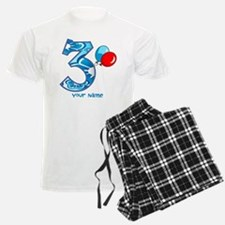 3rd Birthday Balloons Personalized Pajamas