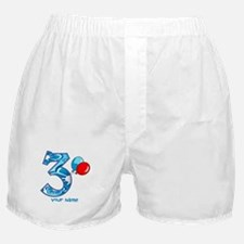 3rd Birthday Balloons Personalized Boxer Shorts
