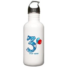 3rd Birthday Balloons Personalized Water Bottle