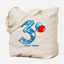 3rd Birthday Balloons Personalized Tote Bag