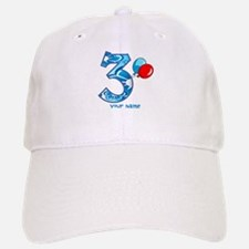 3rd Birthday Balloons Personalized Baseball Baseball Cap