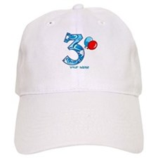 3rd Birthday Balloons Personalized Baseball Cap