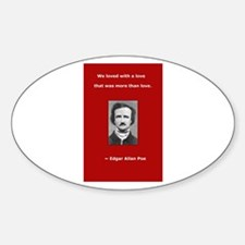 Unique Allen quote Sticker (Oval)