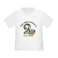 2nd Birthday Monkey Personalized T