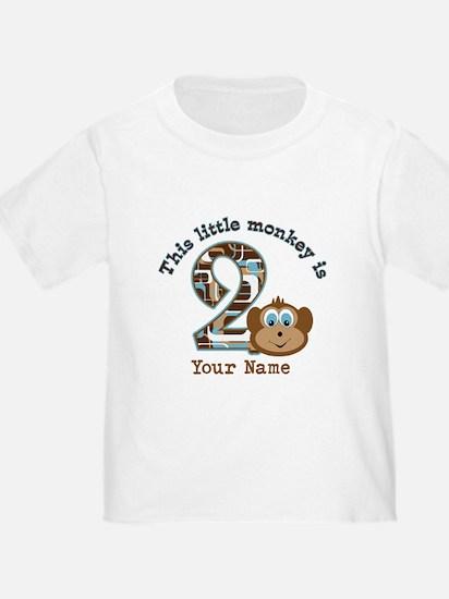 2nd Birthday Monkey Personalized T