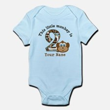 2nd Birthday Monkey Personalized Infant Bodysuit