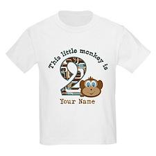 2nd Birthday Monkey Personalized T-Shirt