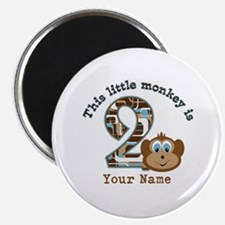 2nd Birthday Monkey Personalized Magnet