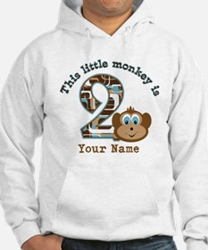 2nd Birthday Monkey Personalized Hoodie