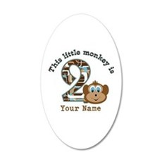 2nd Birthday Monkey Personalized Wall Decal