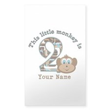 2nd Birthday Monkey Personalized Decal