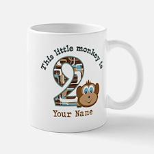 2nd Birthday Monkey Personalized Mug