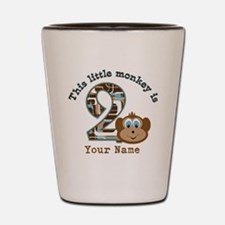 2nd Birthday Monkey Personalized Shot Glass