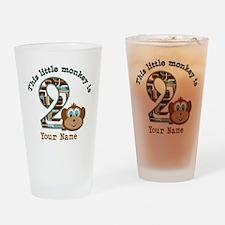 2nd Birthday Monkey Personalized Drinking Glass