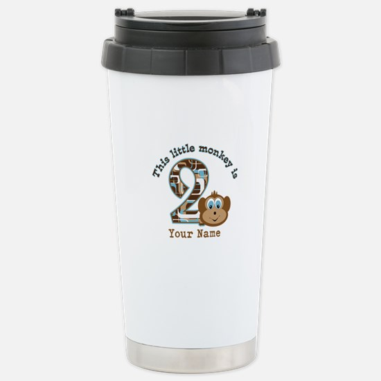 2nd Birthday Monkey Personalized Stainless Steel T