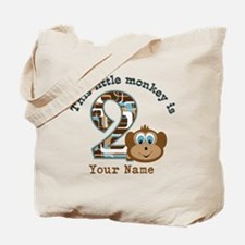 2nd Birthday Monkey Personalized Tote Bag